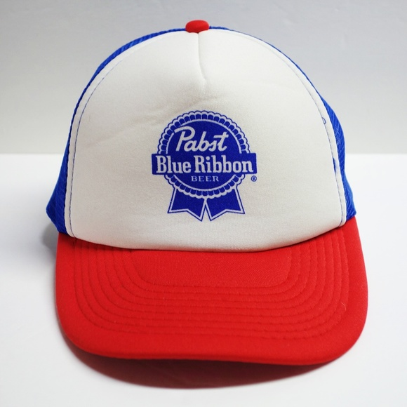 7c2d41ad28553c Otto Accessories | Pabst Blue Ribbon Beer Mesh Snapback Trucker Hat ...